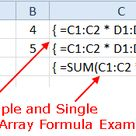 How Excel Multi-Cell Array Formulas Work