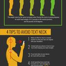 Text neck is the term used to describe the neck pain and damage sustained from?