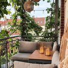 Natürlich grüner Sichtschutz auf dem Balkon von Piamisuu