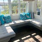 Sunbrella Custom Breakfast Nook Cushions  Dining Table /   Etsy