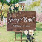 First Names Wedding Sign, Wood wedding sign, Wedding Welcome Sign, Welcome Wedding Sign Wood, Wedding Signage, Wedding Sign, Last name sign