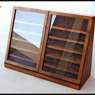 Vintage Hand Built Wooden Display Case