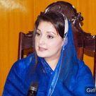 Maryam Nawaz in Blue Dress