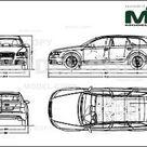Audi S6 Avant 2006   Disegno 2D   30145   Model COPY   Italiano