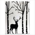 Deer in Forest Embossing Folder Darice Folders 1219-425 A2 | Etsy