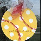 Softball Wreath