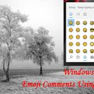 Easily make emoji comments on YouTube videos using the keyboard. # Emoji comments using keyboard.