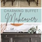 Charming Vintage Buffet Makeover
