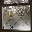 Frosted Moroccan Window Privacy Cover Adhesive Individual Pieces- Matte Film- Smooth Glass Surface - Tint- Home Decor Solutions -Bestseller
