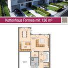 Kettenhaus - Grundriss - 136 m² - 3 Zimmer - Erdgeschoss