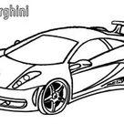 Ausmalbilder Lamborghini - Malvorlagen kostenlos zum ausdrucken