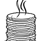 Loads of Pancakes coloring page   Free Printable Coloring Pages