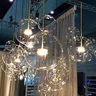 XHLXF Nordic Restaurant Bubble Ball LED Kronleuchter Bar Fenster Galerie Wohnzimmer Lampe Kreative Glas Bean Magic Molecular Chandelier 1,4,6,14 Ball Lampe Einschließlich LED-Lichtquelle