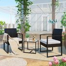 2-Sitzer Lounge-Set aus Polyrattan