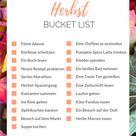 Herbst Bucket List – 21 schöne Aktivitäten für den Herbst - Food Blog ninastrada