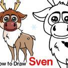 How to Draw Sven Reindeer | Disney Frozen