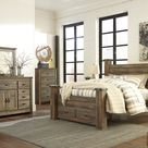 Trinell Brown Poster Storage Bedroom Set with Fireplace Option - 4-Piece King (KB-D-M-N)