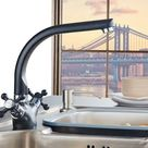 Spray Painting Faucet, Cold And Hot Water Mixer Double Handle Tap