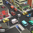 Simple Town - Cartoon City Assets
