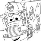 Mack From Disney Cars 2 Coloring Page - Download & Print Online Coloring Pages for Free