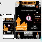 EDITABLE Halloween Party Invitation, Digital Invite, Printable 5