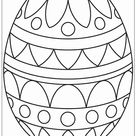 Big Easter Egg Coloring Page