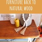How to Restore Painted Furniture Back to Natural Wood