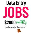 10 Part Time Data Entry Jobs That Make Upto $2000 Monthly