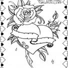 Coloring Pages Hearts Roses - Coloring Home Pages