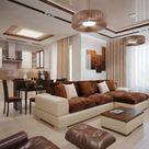 Wohnzimmereinrichtung Ideen – Brauntöne sind modern