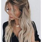 loose half up half down wedding hair