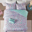 Metallic Printed 4-Piece Full/Queen Reversible Comforter Set