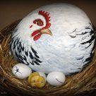 Hens On Nest