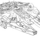 Awesome One-line-drawing Star Wars Illustrations   Gadgetsin