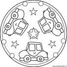 Auto Mandala für Kinder - Window Color Vorlage