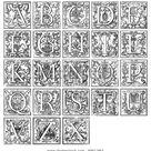 Old Decorative Alphabet 16th Century Stock Photo (Edit Now) 40611862