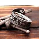 Norse Viking Ring with Runes & Thor's Hammer