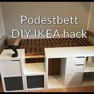 DIY Podestbett mit viel Stauraum - IKEA hack - Platform Bed