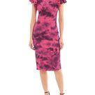 Bagatelle.NYC Women's Juniors Tie Dye Ruffle Shoulder Rib Knit Midi Dress - Walmart.com