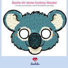 Tiermaske basteln: Sydney, der Koala