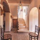 Rustic Italian Hallway at Villa for Sale in Torrita di Siena, Tuscany