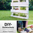 Garten-Idee: Blühender Sichtschutz aus Paletten