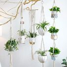 Set of 5 Macrame Plant Hangers, 100% Handmade Plant Hangers, Air Plant Hanger Indoor Plant Hanger Bohemian Decoration