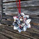 Comic Ornament. CHOOSE YOUR COMICS Kusudama Origami. Christmas, Birthday, First Anniversary. Custom Orders Welcome. Holiday.
