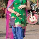 Sonakshi Sinha in green and blue salwar kameez dress