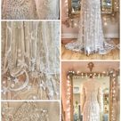 Moon and Stars embroidered wedding dress in beaded tulle
