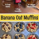 Healthy Banana Oat Muffins Fun Snack Idea For Kids