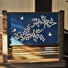 Metal Privacy Screen Decorative Panel Garden Decor Art    Etsy