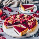 Panna Cotta Tarte mit Mürbeteig und Fruchtspiegel | Vegan