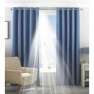 Riva Home Eclipse Blackout Eyelet Curtains (Denim) (46 x 72in (117 x 183cm))
